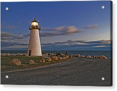 Neds Point Lighthouse In Evening Acrylic Print