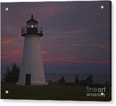 Ned's Point Lighthouse Of Mattapoisett Acrylic Print by Amazing Jules