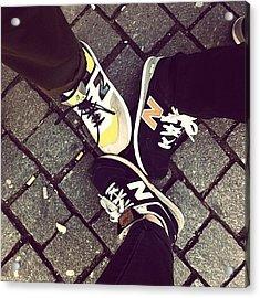 Nee Balance #newbalance #sneakers Acrylic Print