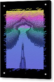 Needle In The Mist Acrylic Print by Tim Allen