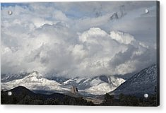 Needle Rock Clearing Sky Acrylic Print by Eric Rundle