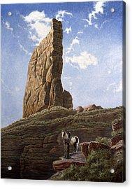 Needle Rock Acrylic Print by Gregory Perillo