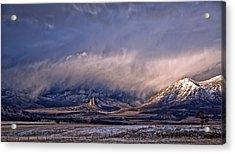 Needle Rock Winters Glow Acrylic Print
