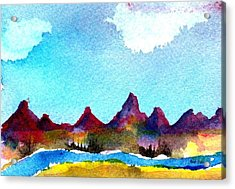 Acrylic Print featuring the painting Needles Mountains by Anne Duke