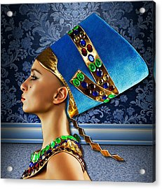 Nefertiti 2 Acrylic Print by Karen Showell