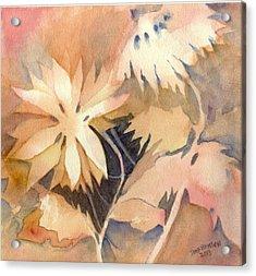 Negative Flowers Acrylic Print