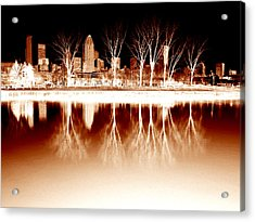 Negative Reflections  Acrylic Print by Robert Knight