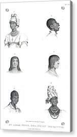 Negro And Indian Heads Acrylic Print