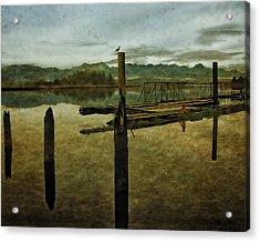 Nehalem Bay Reflections Acrylic Print by Thom Zehrfeld