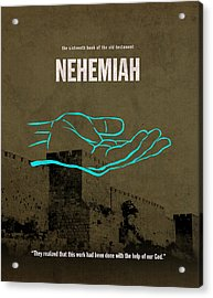 Nehemiah Books Of The Bible Series Old Testament Minimal Poster Art Number 16 Acrylic Print