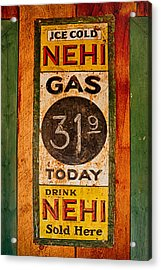 Nehi And Gas Sold Here Acrylic Print by Priscilla Burgers