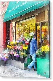 Neighborhood Flower Shop Acrylic Print by Susan Savad