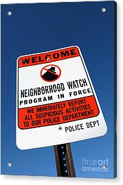 Neighborhood Watch Acrylic Print by Olivier Le Queinec