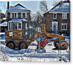 Neighbourhood Snowplough Acrylic Print by Nina Silver