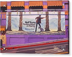 Neil Young Billboard Acrylic Print by Frank Bez