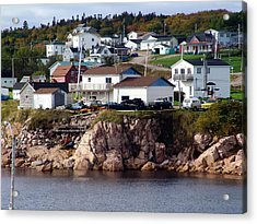 Neil's Harbour Acrylic Print by Janet Ashworth