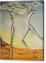 Nella Terra Dei Giganti 2011 Acrylic Print by Simona  Mereu