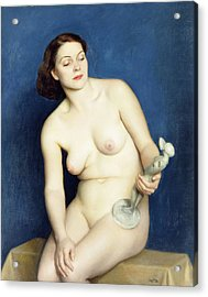 Nellie And Phryne Acrylic Print by William McGregor Paxton
