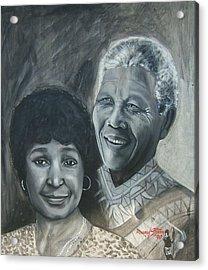 Nelson And Winnie Acrylic Print by Howard Stroman