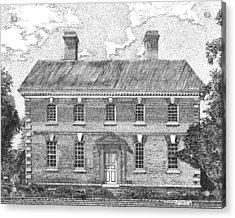Nelson House In Yorktown Virginia II Of IIi Acrylic Print by Stephany Elsworth