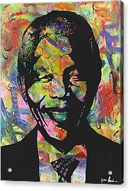 Nelson Mandela Acrylic Print by Jean P Losier