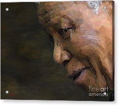 Nelson Mandela Acrylic Print by Les Allsopp