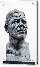 Nelson Mandela Statue Acrylic Print by Jane Rix