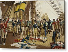 Nelsons Last Signal At Trafalgar Acrylic Print by English School