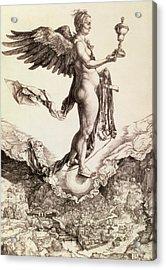 Nemesis Acrylic Print by Albrecht Durer