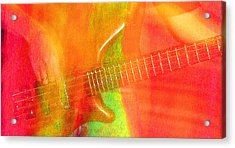 Neon Bass Fusion Acrylic Print by James Hammen