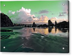 Acrylic Print featuring the photograph Neon Beach by Adria Trail