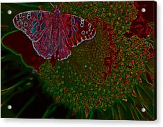 Neon Butterfly Acrylic Print