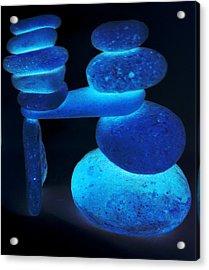 Neon Calming Of Nerves Acrylic Print by Branko Jovanovic