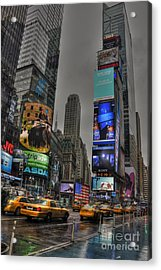 Neon City Acrylic Print by David Bearden