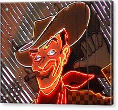 Neon Cowboy Of  Las Vegas Acrylic Print
