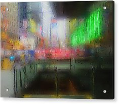 Neon Expressions Acrylic Print by Steve K