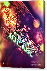 Neon Acrylic Print by HD Connelly