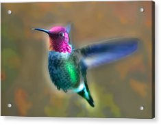 Neon Hummer Acrylic Print by Kenneth Haley