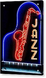 Neon Jazz Acrylic Print by Nadalyn Larsen