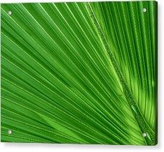 Neon Palm Reader Acrylic Print