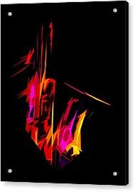 Neon Sax Acrylic Print