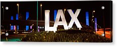 Neon Sign At An Airport, Lax Airport Acrylic Print