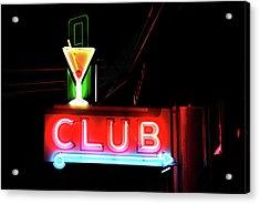 Neon Sign Club Acrylic Print