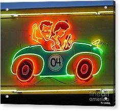 Neon Sign Kennywood Park Acrylic Print