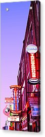 Neon Signs At Dusk, Nashville Acrylic Print by Panoramic Images