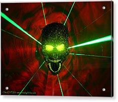 Neon Skull Acrylic Print