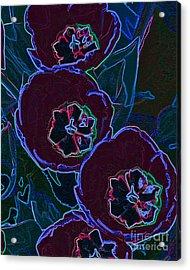 Neon Tulips Acrylic Print