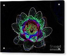 Neonflower Acrylic Print