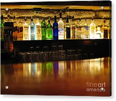 Nepenthe's Bottles Acrylic Print by James B Toy