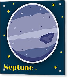 Neptune Acrylic Print by Christy Beckwith